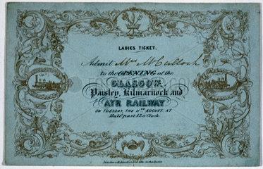 Ladies ticket  1840.