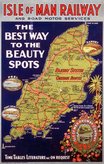 'The Best Way to the Beauty Spots'  IMR poster  1938.