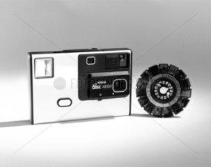 Kodak disc 4000 camera with film  c 1980s.