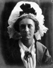 'Acting Grandmama'  1866. Portrait of May P