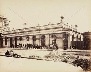 Street elevation of High Street Kensington Station  1868.