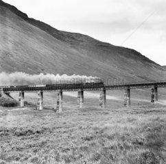 Pair of LNER K2 2-6-0 locomotives heading a