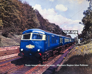 'Train Travel Second to None...'  BR (WR) poster  c 1950s.