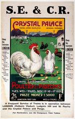 'Crystal Palace'  SE&CR poster  1921.