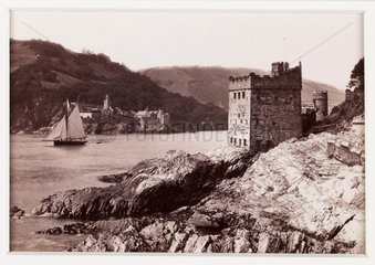 'Dartmouth Castle and Kingswear Castle'  c 1880.