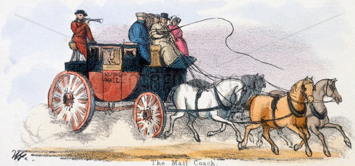 'The Mail Coach'  c 1845.