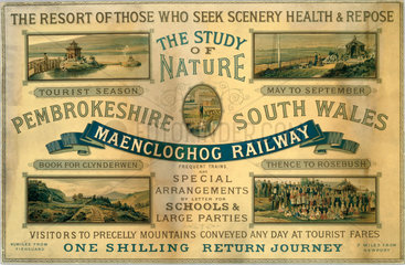 Maencloghog Railway card advertisement  1923-1947.