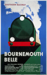 'Bournemouth Belle'  SR poster  1933.