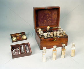 Medicine chest  1870-1910.