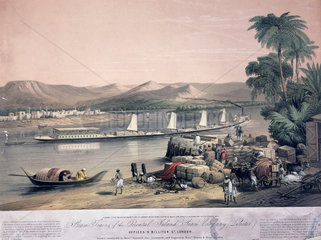 'Steam Trains of the Oriental Steam Company'   India  1858.