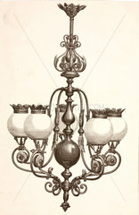 Gasolier  probably French  c 1860.