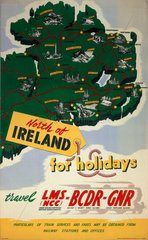 'North of Ireland for Holidays'  LMS (NCC)