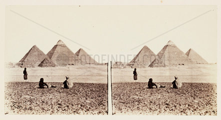 'The Pyramids of Gizeh'  1859.