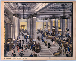 'London Chief Post Office'  c 1950.