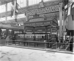 LNWR display at Franco-British exhibition  White City  London  1908.