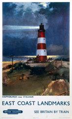 'East Coast Landmarks - Happisburgh near Stalham'  BR poster  1960.
