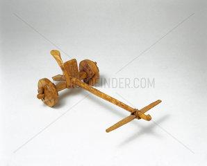 Primitive chariot  probably c 2000 BC.