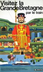 'Visitez la Grande Bretagne par le Train'  BR poster  1966.