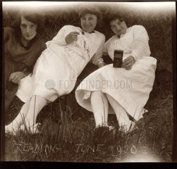 Three young women  Reading  June 1920.