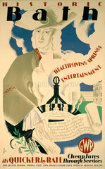 'Historic Bath'  GWR poster  1935.