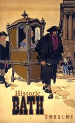 'Historic Bath'  GWR/LMS poster  1946.
