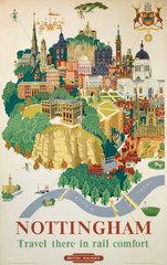 'Nottingham'  BR poster  1953.