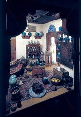 Medieval Arab pharmacy  reconstruction.