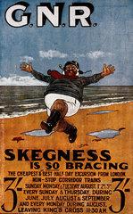 'Skegness is so Bracing'  postcard  1908.