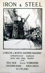 'Iron & Steel'  LNER poster  1938.