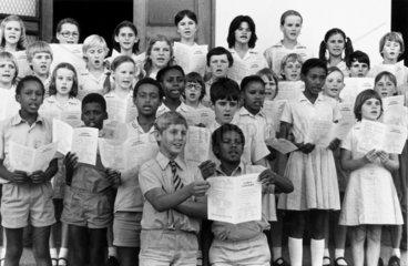 Children celebrating the independence of Zimbabwe  20 December 1972.