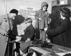 WW2 clothing exhange  17 November 1942. 'Cl