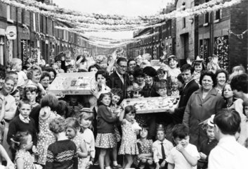 'Fiesta' street celebrations during the World Cup  Liverpool  1966.