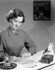 Woman writing  1949.