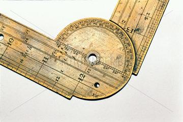 Surveyor's folding rule  1574.