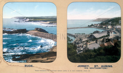 Bude  Cornwall  and St Aubins  Jersey  1910s.