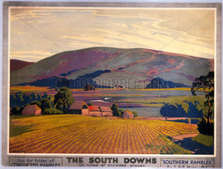 'The South Downs'  SR poster  c 1930s.