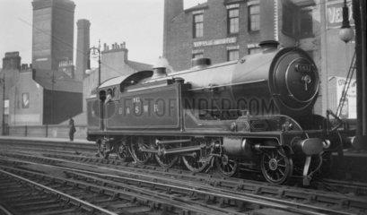 G&SWR steam locomotive at Glasgow St Enoch  c 1910s-1920s.