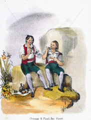 'Cheese and Flesh for Food'  1845.