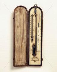 Air barometer or 'sympiesometer'  1858.