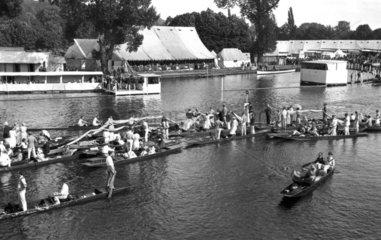 Henley Regatta  Henley-on-Thames  Oxfordshire  c 1930s.