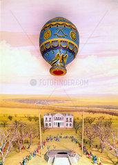 Montgolfier balloon ascent  Boulogne  1783.