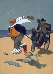 'The Skegness Cure'  original artwork for GNR poster  1911.