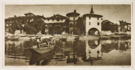 Boat by the waterfront  1913 .