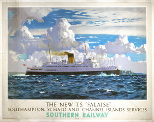 'The New TS Falaise'  SR poster  1947.