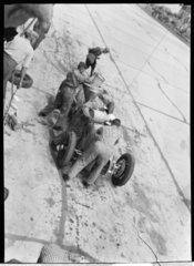 Hans Stuck in the pits  German Grand Prix  Nurburgring  1934.