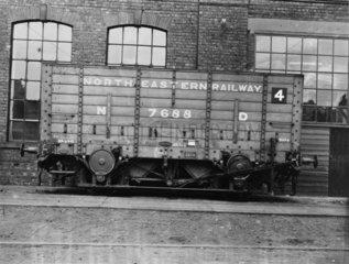 Hopper coal wagon.
