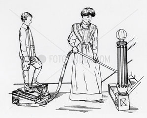'Griffith' foot-operated vacuum cleaner  1905.