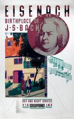 'Eisenach  Birthplace of Beethoven'  LNER poster  1931.