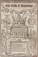 Engraved title page for 'The castle of Knowledge'  1556.