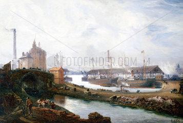 Pomona Docks  Manchester  England  1894.